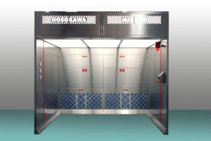 An image of a Hokokawa Micron downflow booth