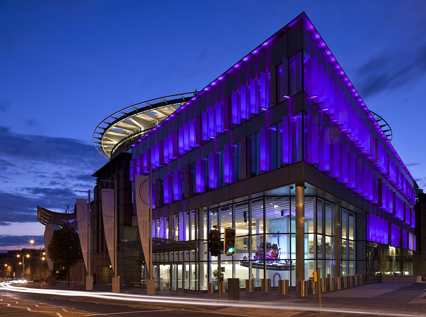EICC Exterior by night credit David Barbour